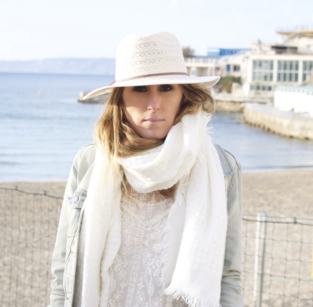 ale by alessandra white hat chapeau blanc