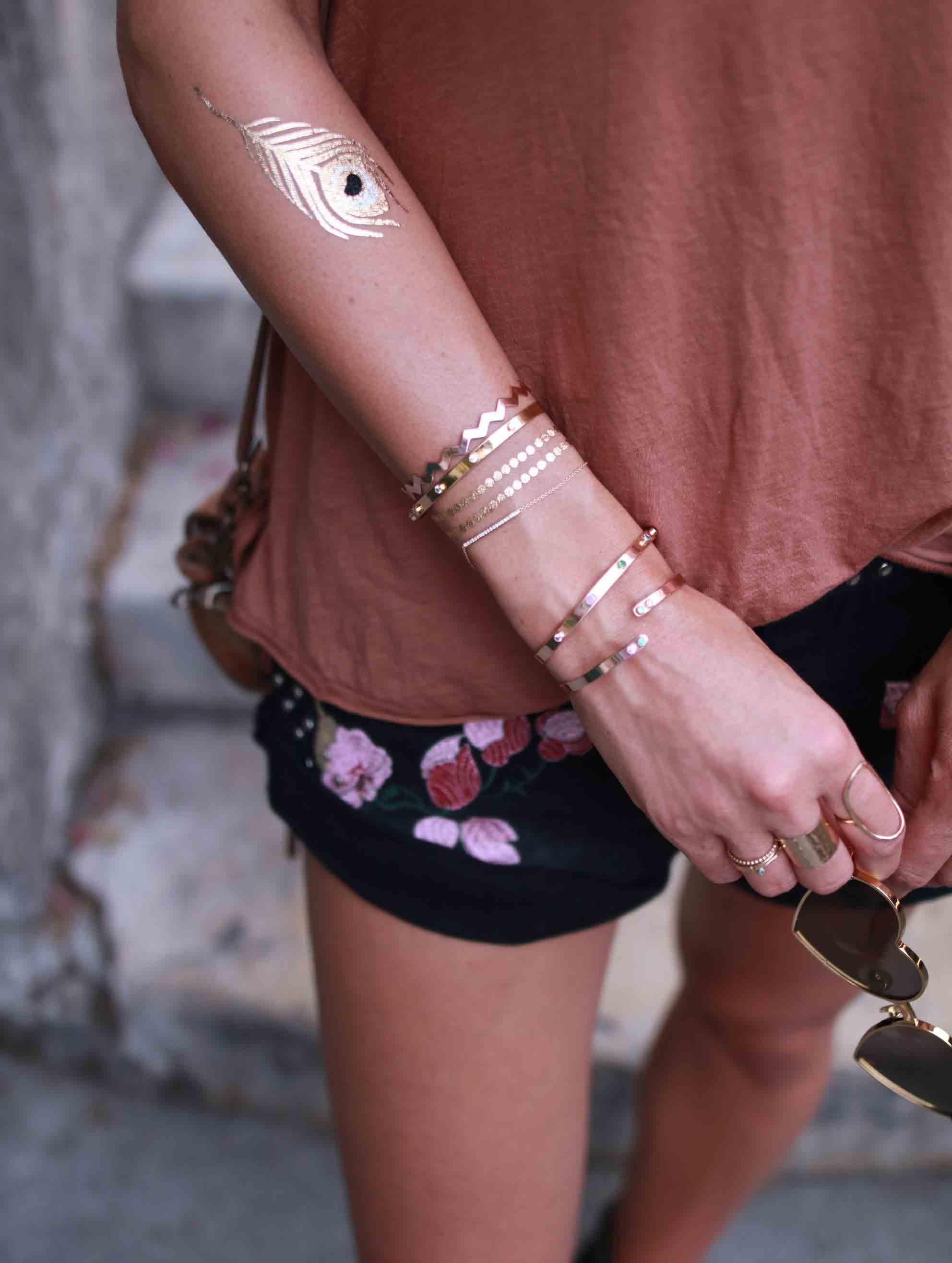 gold bracelets cuff