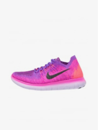 FREE RUN FLYKNIT 2 - Baskets basses - fire pink/black/hyper grape