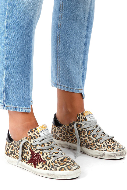 GOLDEN GOOSE SUPERSTAR LEOPARD