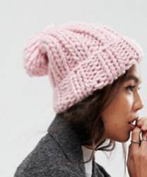 bonnet rose epais asos