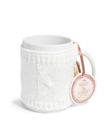 mug laine blanche