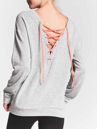 Active Lace-Up Sweatshirt