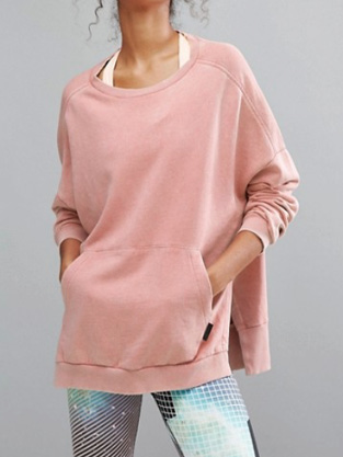 Reebok - Studio - Sweat-shirt oversize - Rose pâle