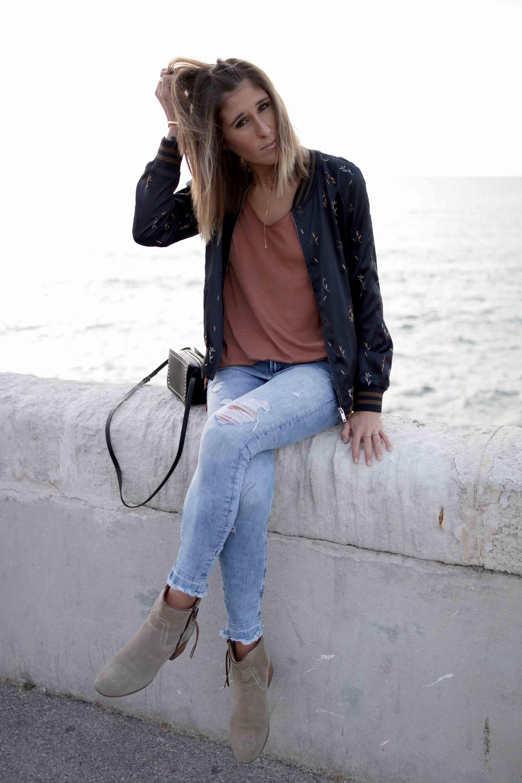look casual avec jean zip