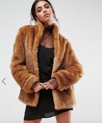 ASOS - Manteau vintage en fausse fourrure