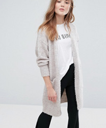 New Look - Cardigan long en maille bouclée