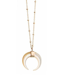 indo crescent mother of perle ecklace
