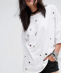 Glamorous - T-shirt oversize avec œillets