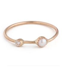 akoya pearl band ring