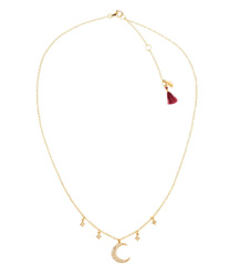 luna star pave necklace