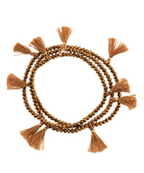 shashi crystal tassel wrap bracelet