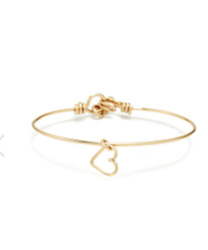 ATELIER PAULIN Bracelet Pampille Charm Coeur Gold Filled Jaune