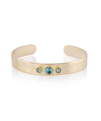 Bracelet Erica Doré Serti de Pierres Turquoise et Swarovski Pacific Opal