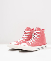 CHUCK TAYLOR ALL STAR - PRINTED WASH - BASKETS MONTANTES - ENAMEL RED ZALANDO