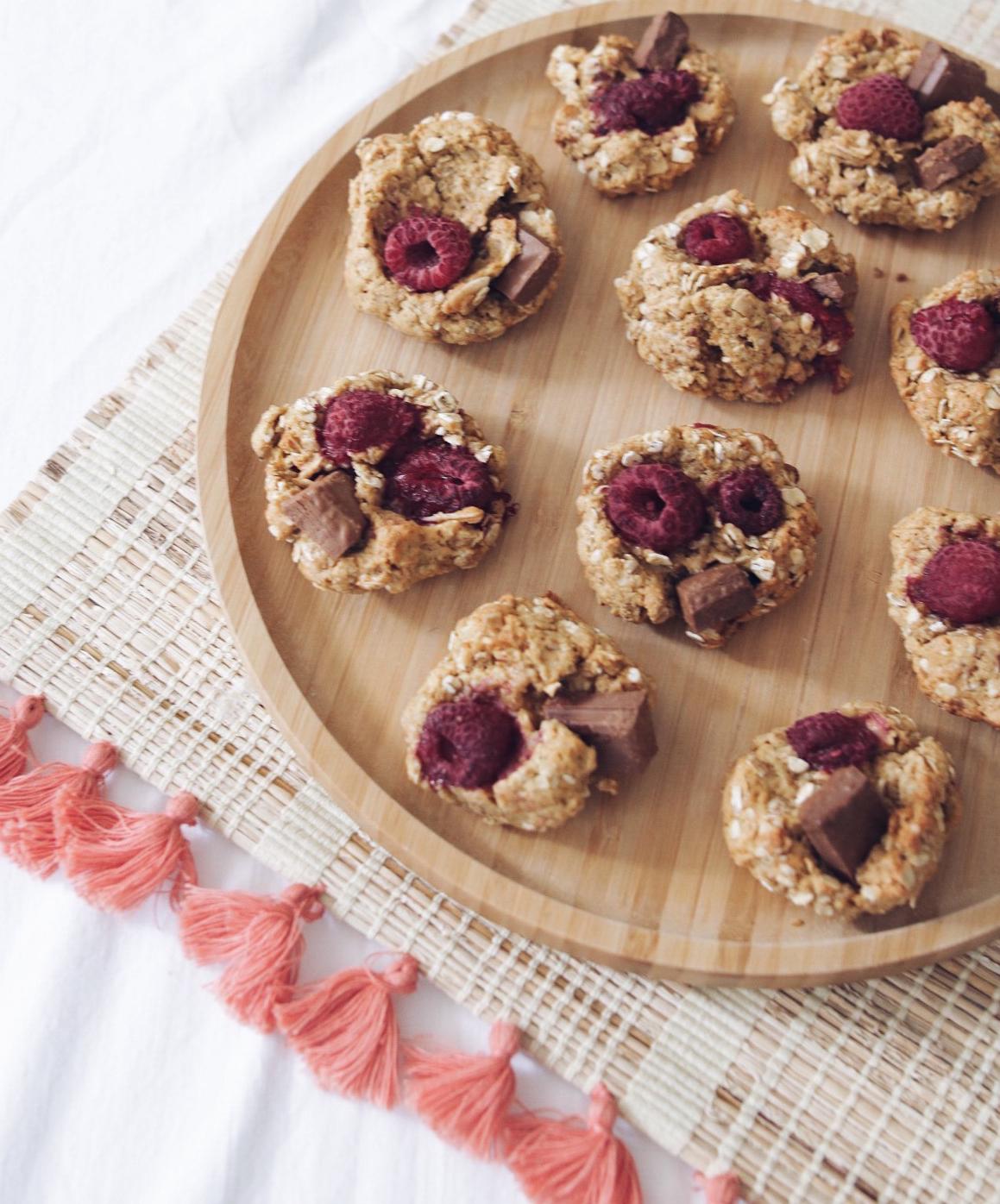 Cookies choco framboise