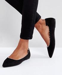 Lost Ink - Chaussures plates à détail effet perle - Noir