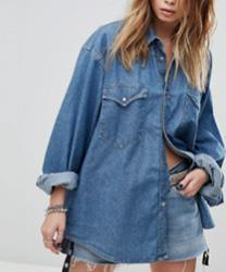 Milk It - Chemise en jean oversize style vintage