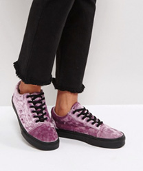 Vans - Old Skool - Baskets en velours - Violet