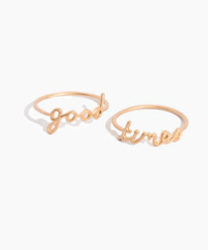 good times ring set Madewell