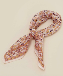 Chan Luu Inc Vintage Floral Neckerchief Plnet blue