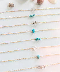 Gold String Bracelet 1 | 1 tiny turquoise gem timka jewelry
