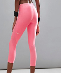 Nike Pro - Hypercool - Legging de sport court - Rose