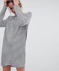 Pieces - Robe en jersey à col montant