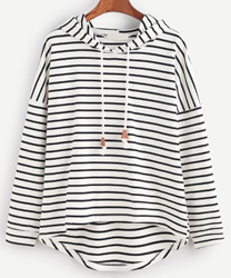 striped sweat shirt romwe