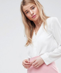 ASOS DESIGN - Blouse col V