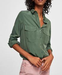 Chemise kaki poches à rabat