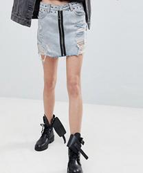 Signature 8 - Jupe en jean avec fermeture éclair exposée
