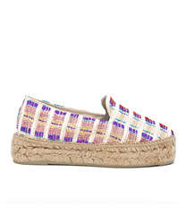 espadrilles - los angeles - lurex pattern d manebi