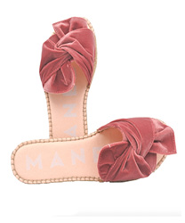 flat sandals with bow - versailles - antique rose manebi