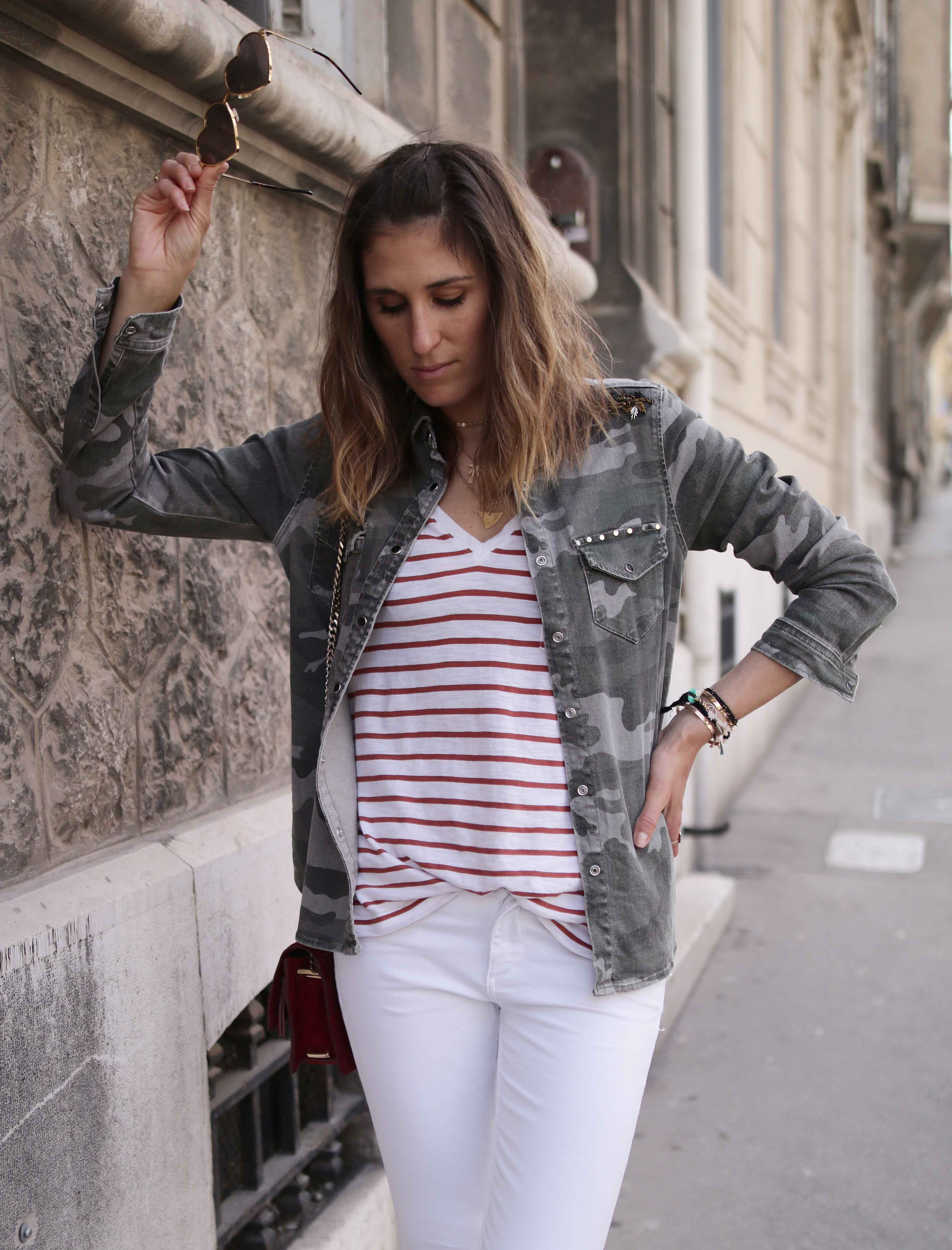 FLARE JEANS BLANC