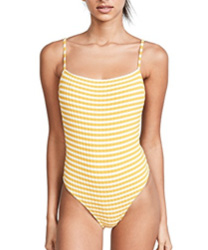 Solid & Striped The Chelsea Stripe Rib One Piece Swimsuit