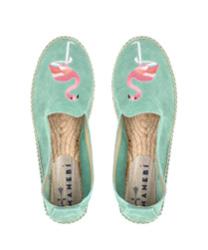 espadrilles - palm springs - fiji green & flamingo