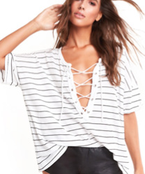 wildfox Simple Stripe Maxwell Tee