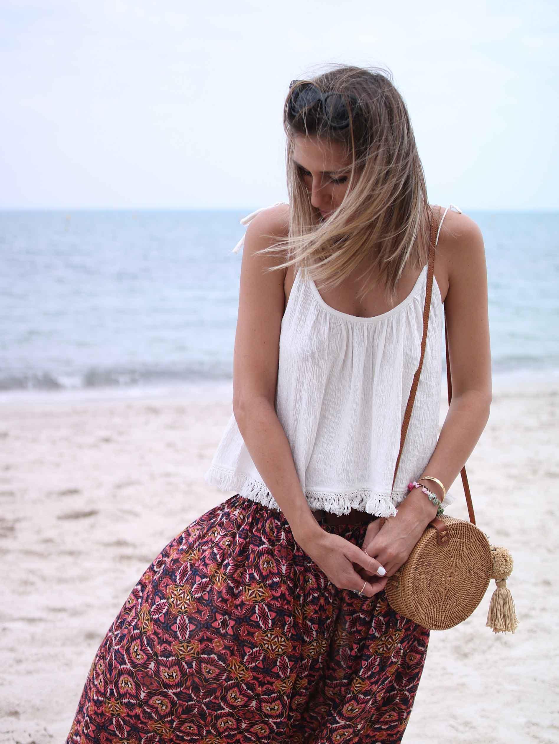 bali bag round bag pepyth maxi skirt bohem billabong