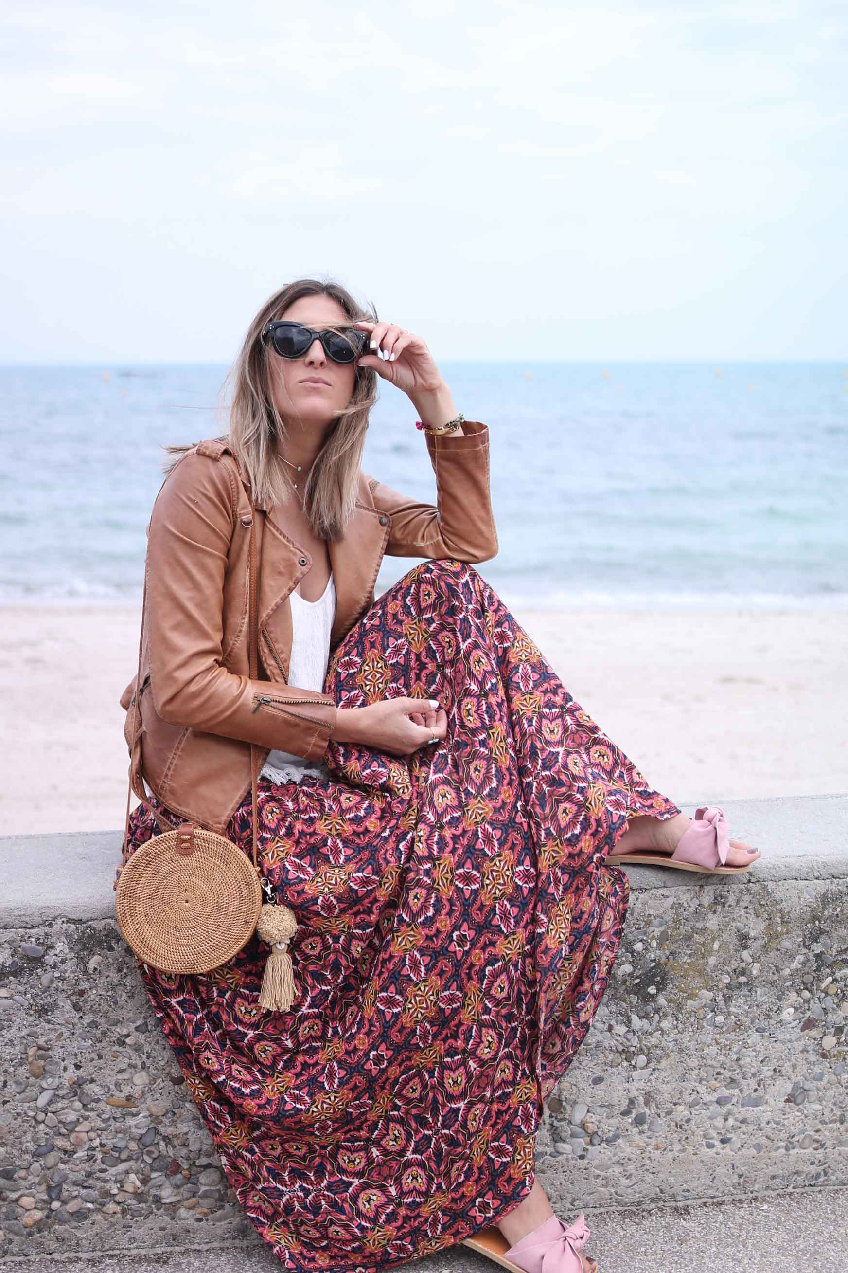Maxi boho skirt billabong summer style