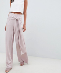 ASOS DESIGN - Pantalon ample oversize noué sur le devant pour grandes occasions