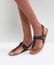 ASOS - FEELS - Sandales plates en cuir