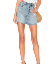 JUPE DENIM A-LINE FREE PEOPLE Free People
