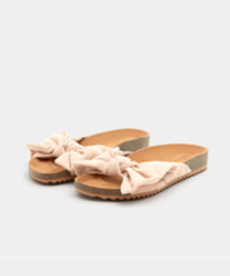 Mules nœud roses pull and bear