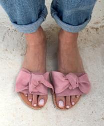 NOEUD EN SANDALES, SANDALES EN CUIR FEMME, SANDALES GRECQUES AELIA, DIAPOSITIVES, SANDALES EN CUIR, aelia greek sandals