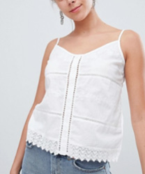 Pimkie - Top court en broderie anglaise