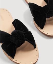 Sandales velours nœud