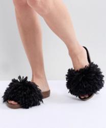 UGG - Cindy - Mules à longs poils - Noir
