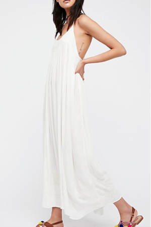 EMBROIDERED ELAINE MAXI SLIP free people