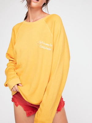 CALIFORNIA OVERSIZED RAGLAN free people
